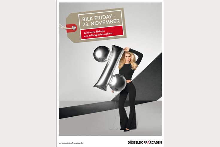 Düsseldorf Arcaden, Anzeige zur Bewerbung des Black Friday