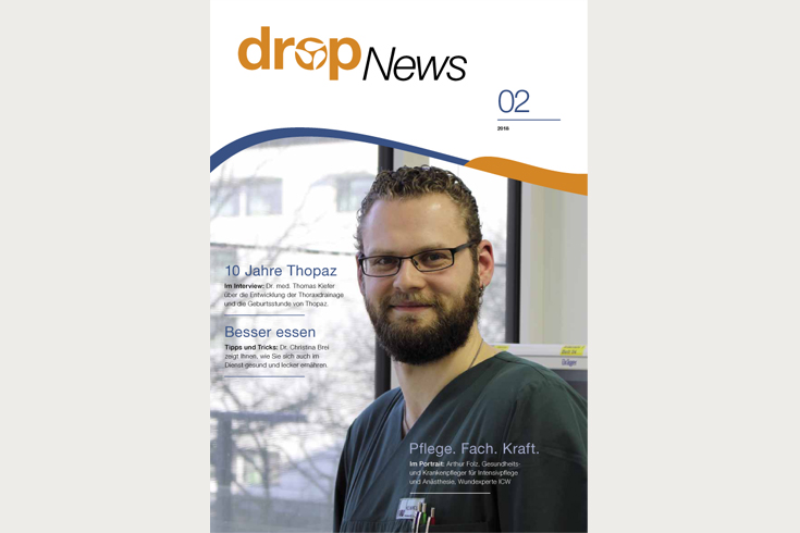 Medela DropNews, 3-monatiges Kundenmagazin