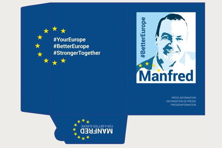 Pressemappe für den Spitzenkandidaten der CSU zur Europawahl 2019 Manfred Weber