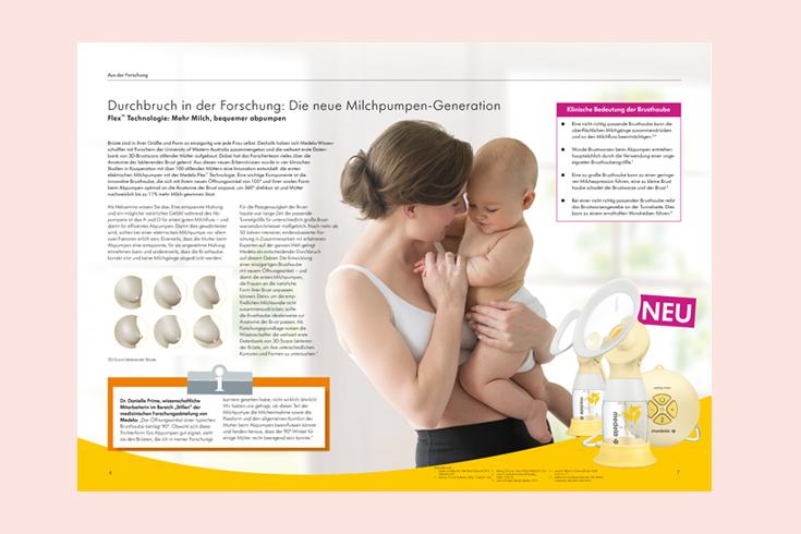 Medela mutter & milch, 3-monatiges Magazin für Hebammen