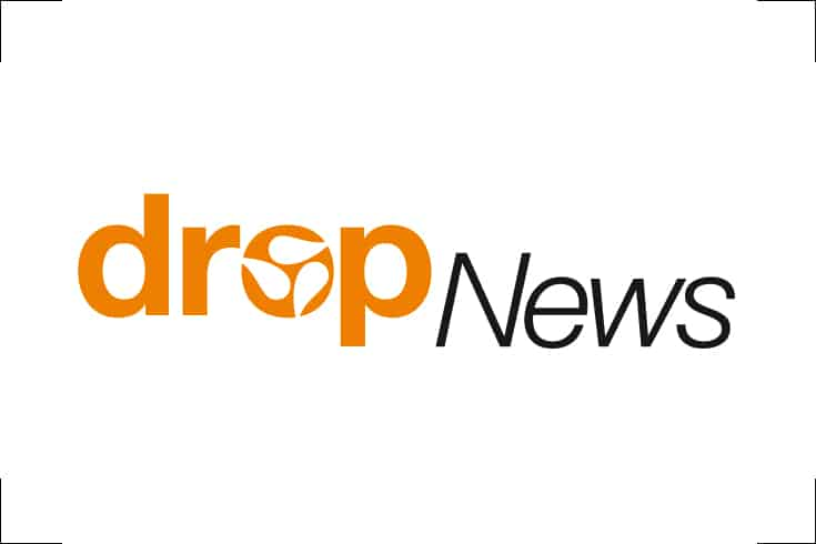 Logodesign Magazintitel drop News