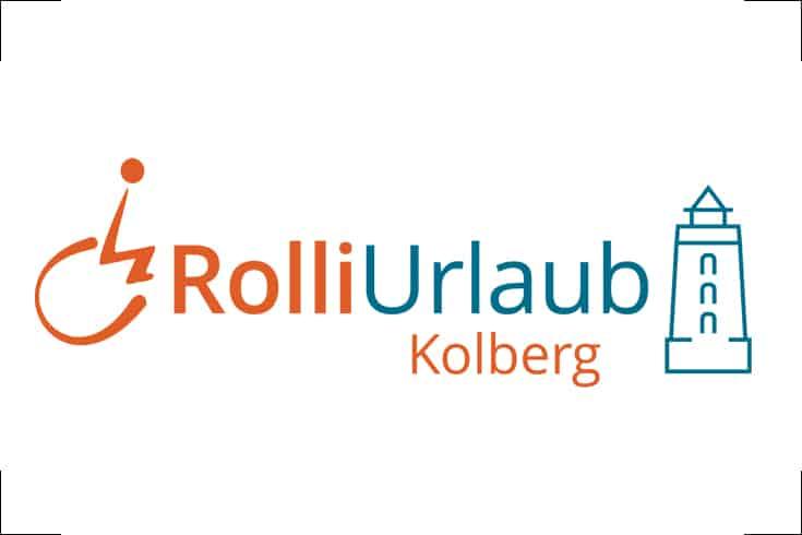 Logodesign Rolli-Urlaub Kolberg, barrierefreier Urlaub an der polnischen Ostsee