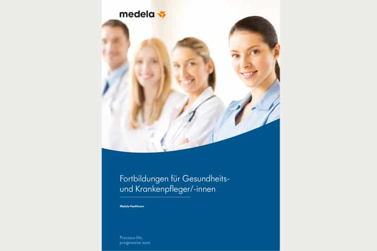 Printdesign medela Fortbildungsbroschüre: Cover