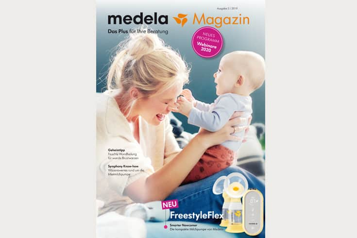 Printdesign medela Magazin: Cover